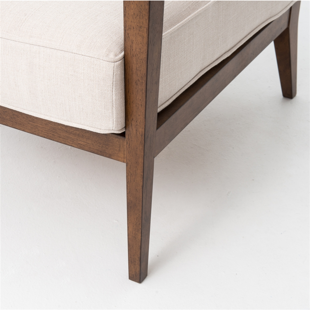 Kensington Laurent Wood Frame Accent Chair