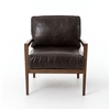 Kensington Laurent Wood Frame Accent Chair-Leather