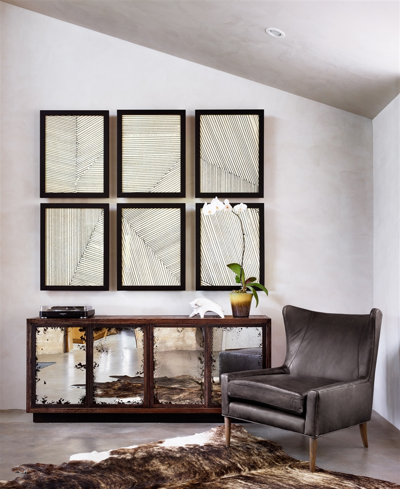 Kensington Marlow Wing-Black, Khazana Home Austin Furniture Store