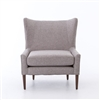 Kensington Marlow Wing Chair-Chess Pewter