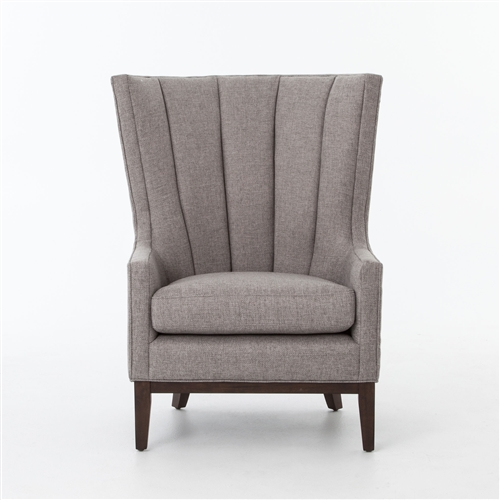 Kensington Channelled Wing Chair-Chess Pewter