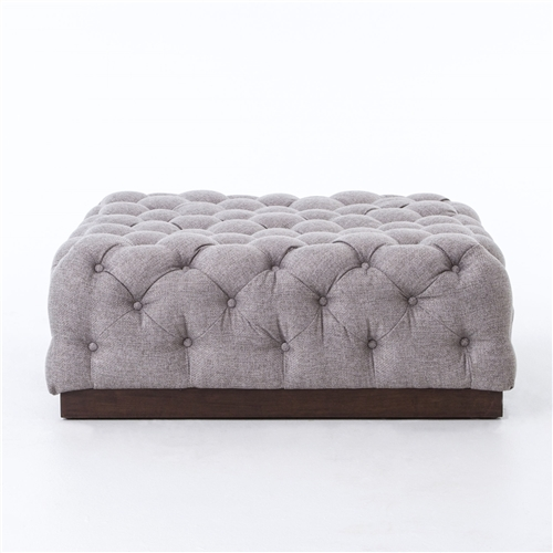 Kensington Plateau Cocktail Ottoman-Chess Pewter
