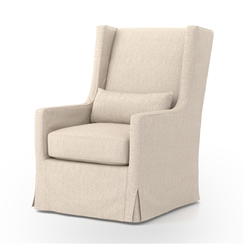Kensington Swivel Wing Chair-Jette Linen