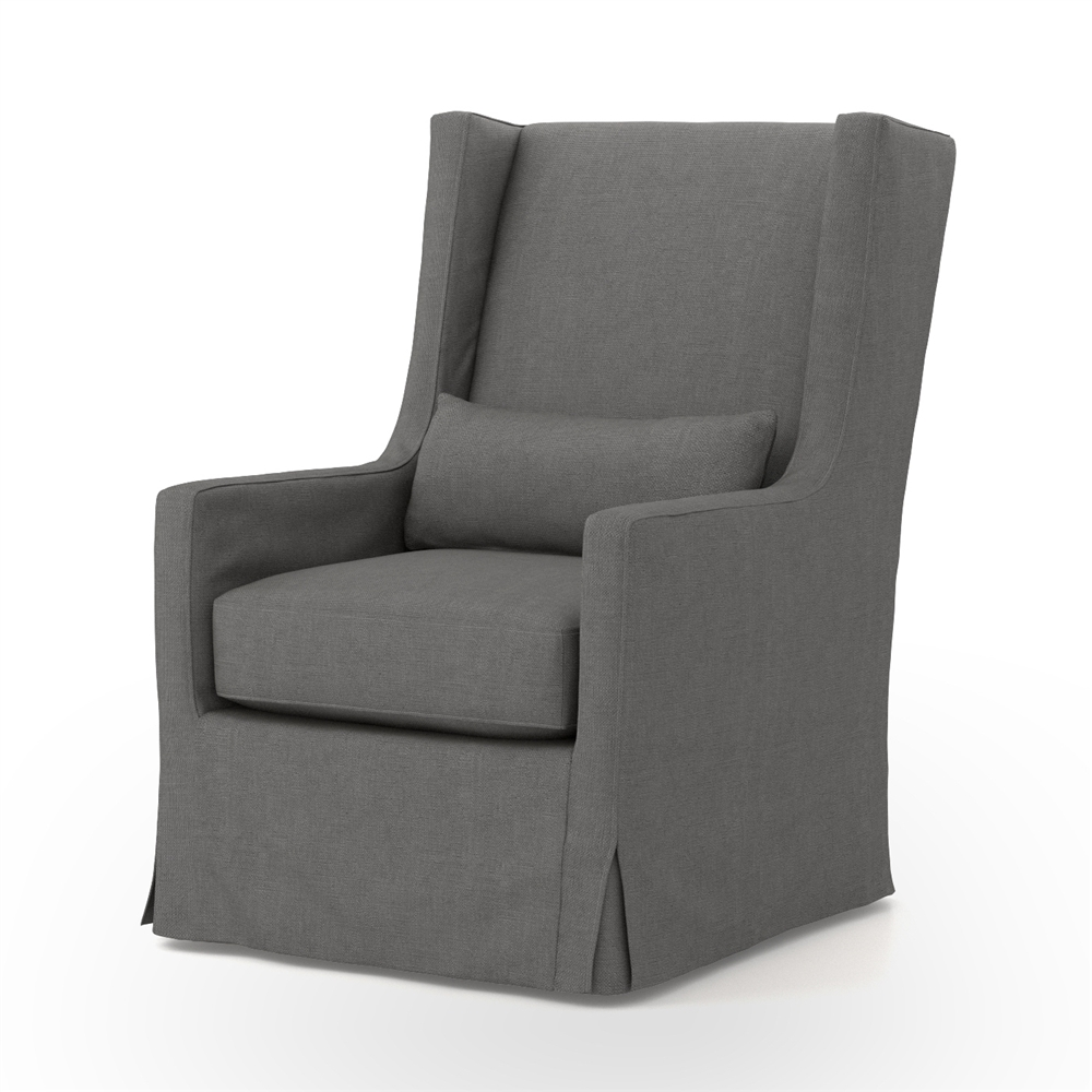 Ordinaire Kensington Swivel Wing Chair In Finn Charcoal Larger Photo Email A Friend