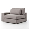Kensington Bloor Sectional Left Arm Front in Chess Pewter