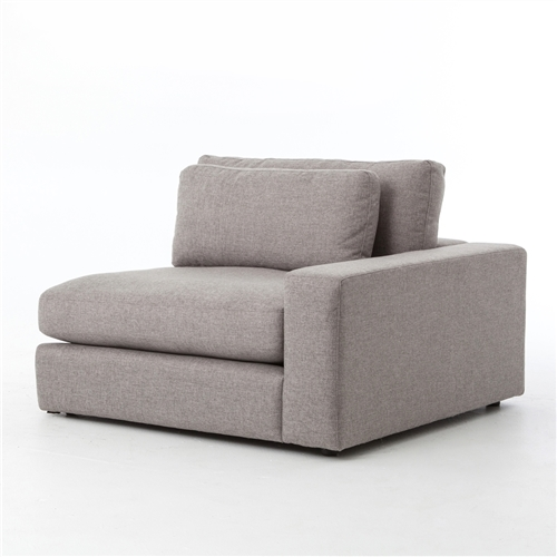 Kensington Bloor Sectional Right Arm Front in Chess Pewter