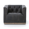 Kensington Maxx Swivel Chair-Destroyed Black