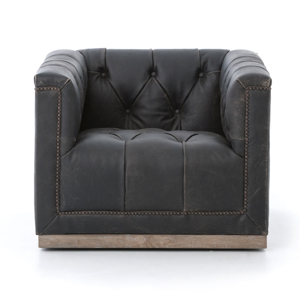 Kensington Maxx Swivel Chair Destroyed Black