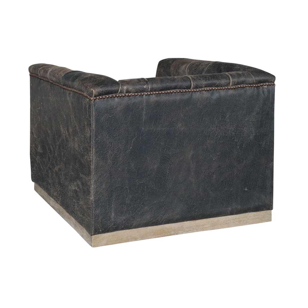 Vintage leather swivel chair - Kensington Maxx Swivel Chair Destroyed Black