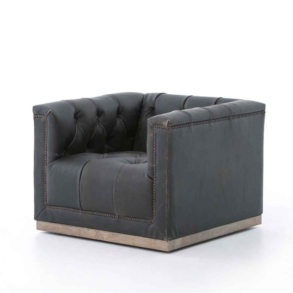 Kensington Maxx Swivel Chair Destroyed Black