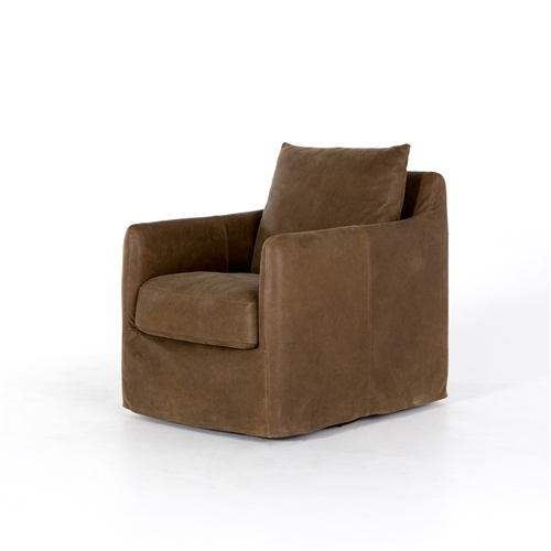 Kensington Banks Swivel Chair in Umber Grey