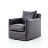 Kensington Banks Swivel Chair in Rider Black
