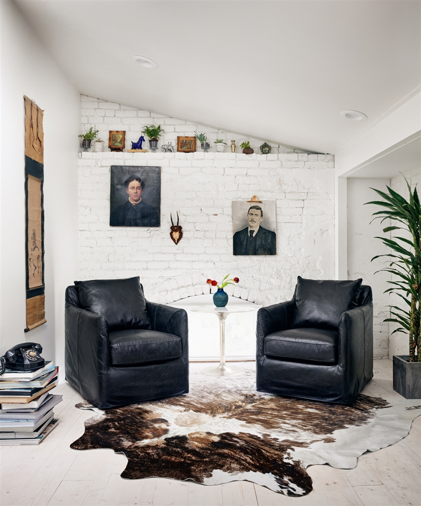 Kensington Banks Swivel Chair in Rider Black , Khazana Home Austin ...