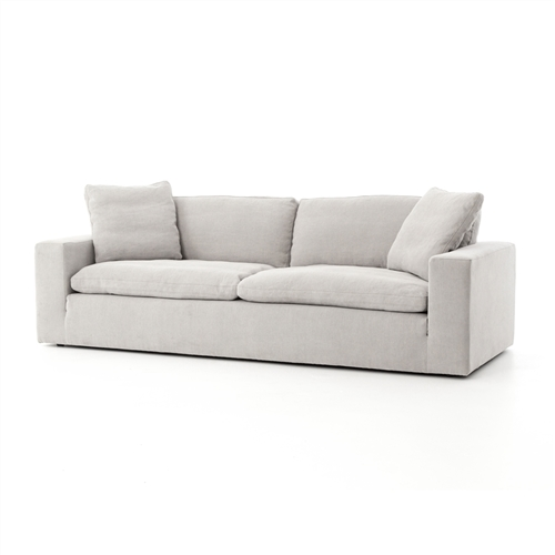 "Kensington Plume Sofa 96"" in Heathered Twill Pewter"
