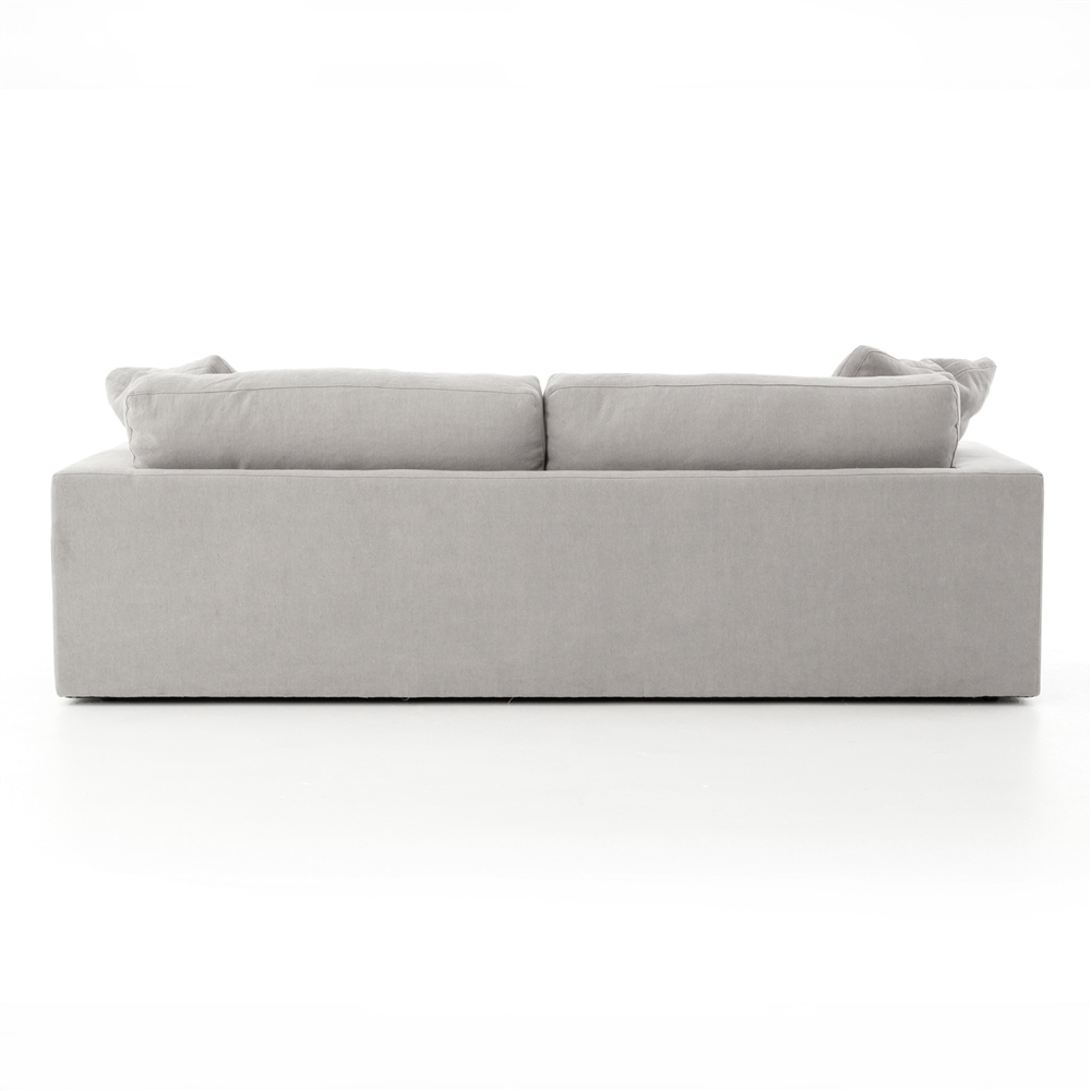 Kensington Plume Sofa 96  in Heathered Twill Pewter  sc 1 st  The Khazana : twill sectional sofa - Sectionals, Sofas & Couches