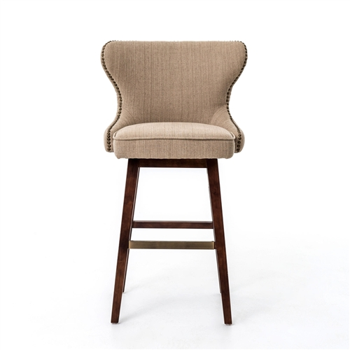 Metro Julie Swivel Barstool-Hyde Clay