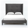 Metro Madison Upholstered King Bed-Charcoal