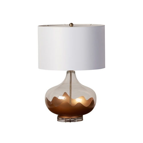 Golden Dunes Glass Table Lamp