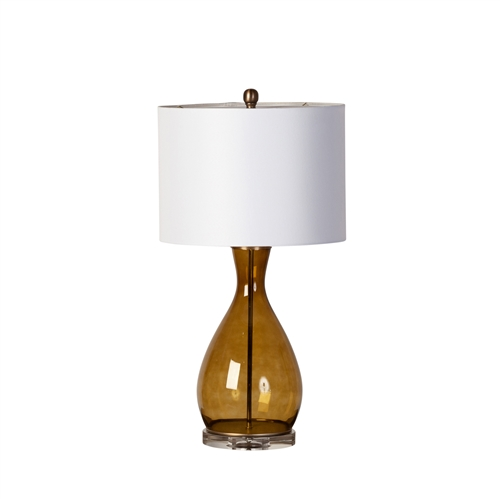 Amber Glass Table Lamp