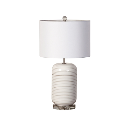 Concentric Circles Ceramic Table Lamp