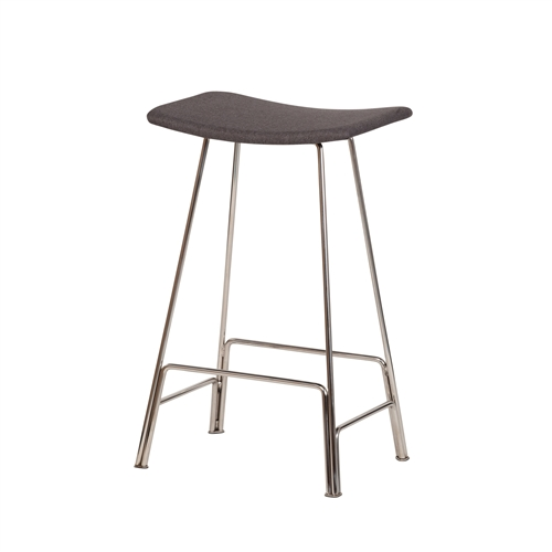 Annie Counter Stool - Chrome Frame + Grey
