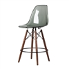 Charles Eames Style DSW Acrylic Counter Stool in smoke