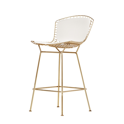 Bertoia Style Barstool in Champagne Gold