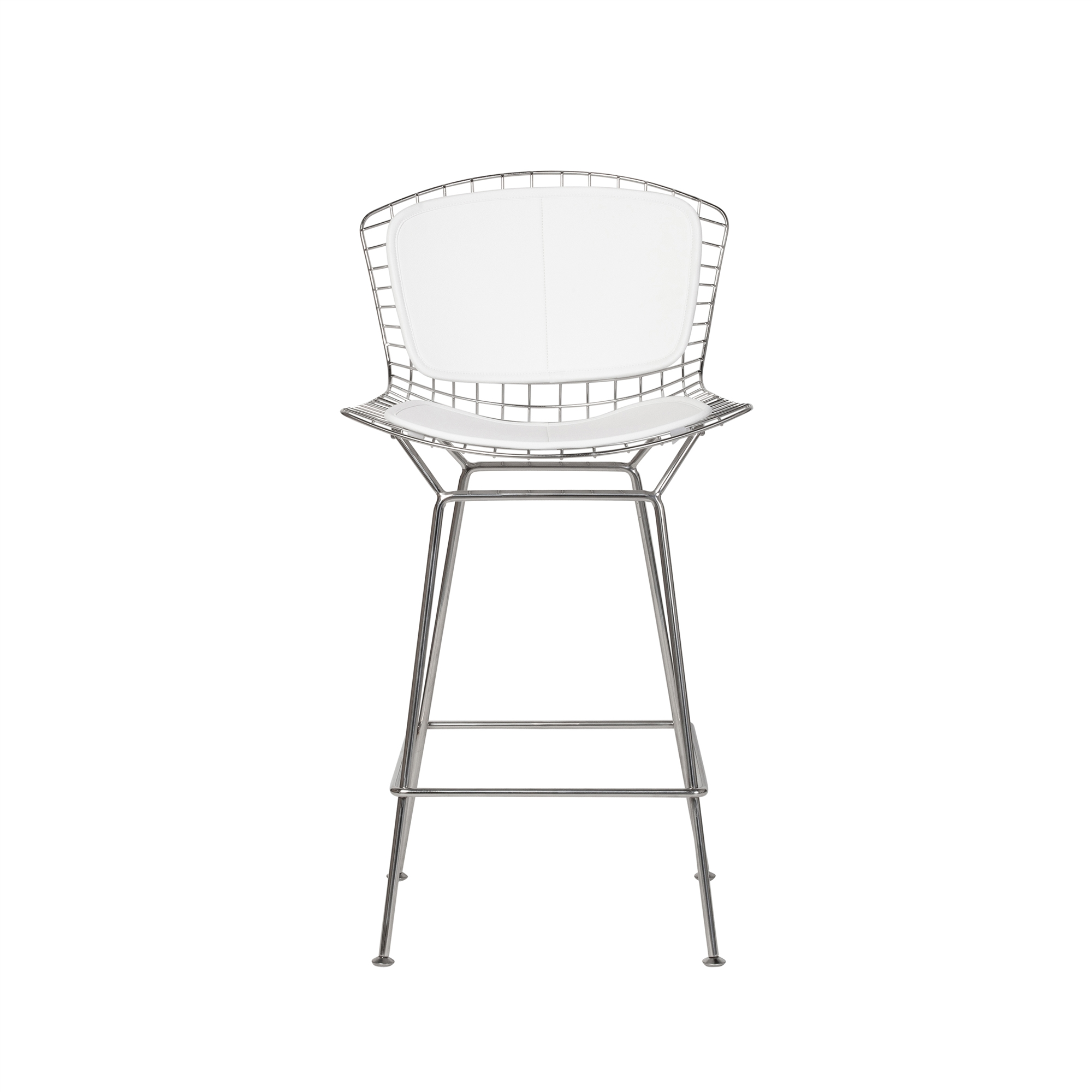 Super Bertoia Style Stainless Steel Counter Stool White Seat Pad Ocoug Best Dining Table And Chair Ideas Images Ocougorg