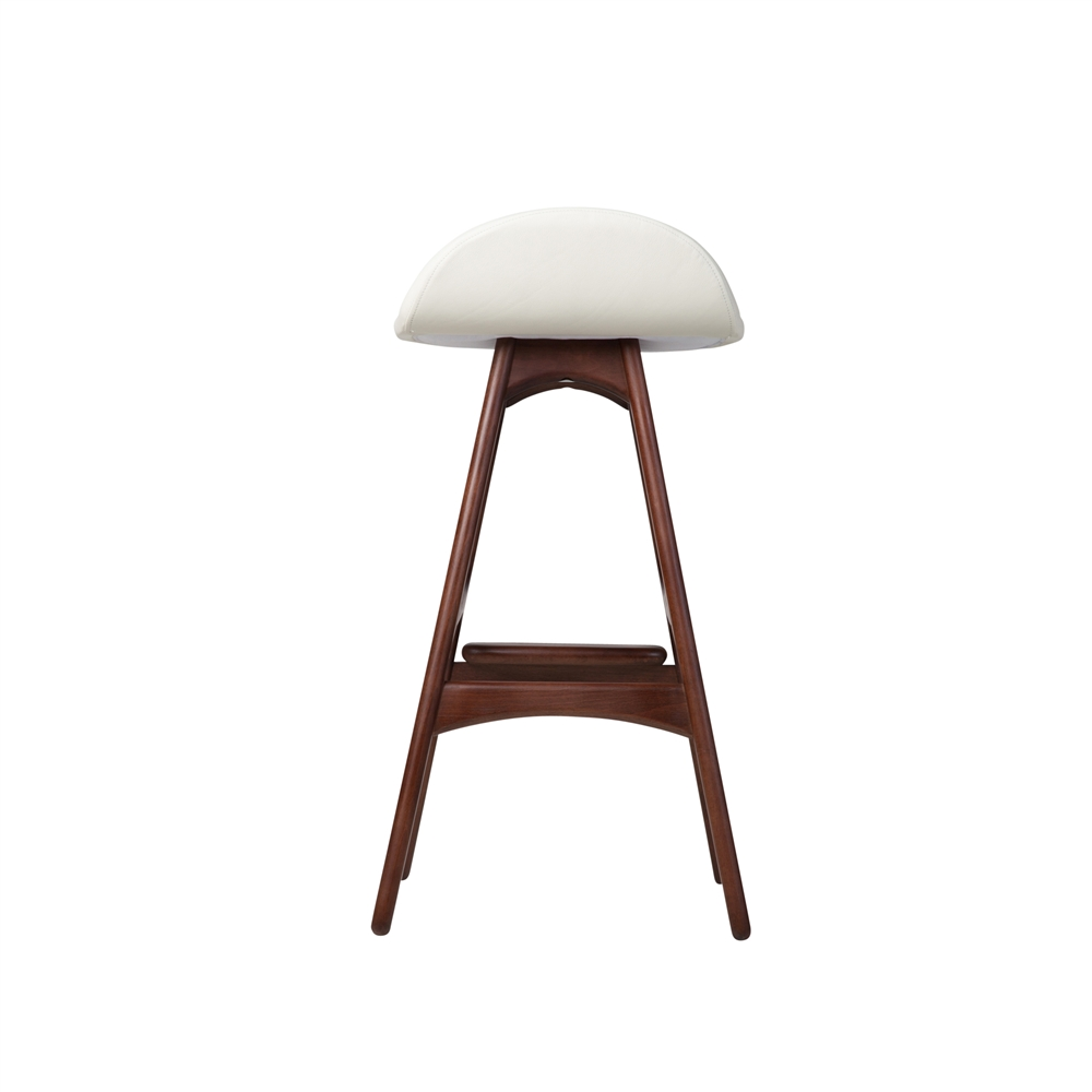 Awesome White Leather Counter Stool