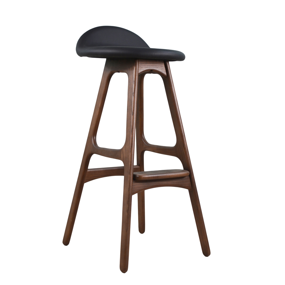 Mid Century Danish Teak Bar Stool The Khazana Home Austin