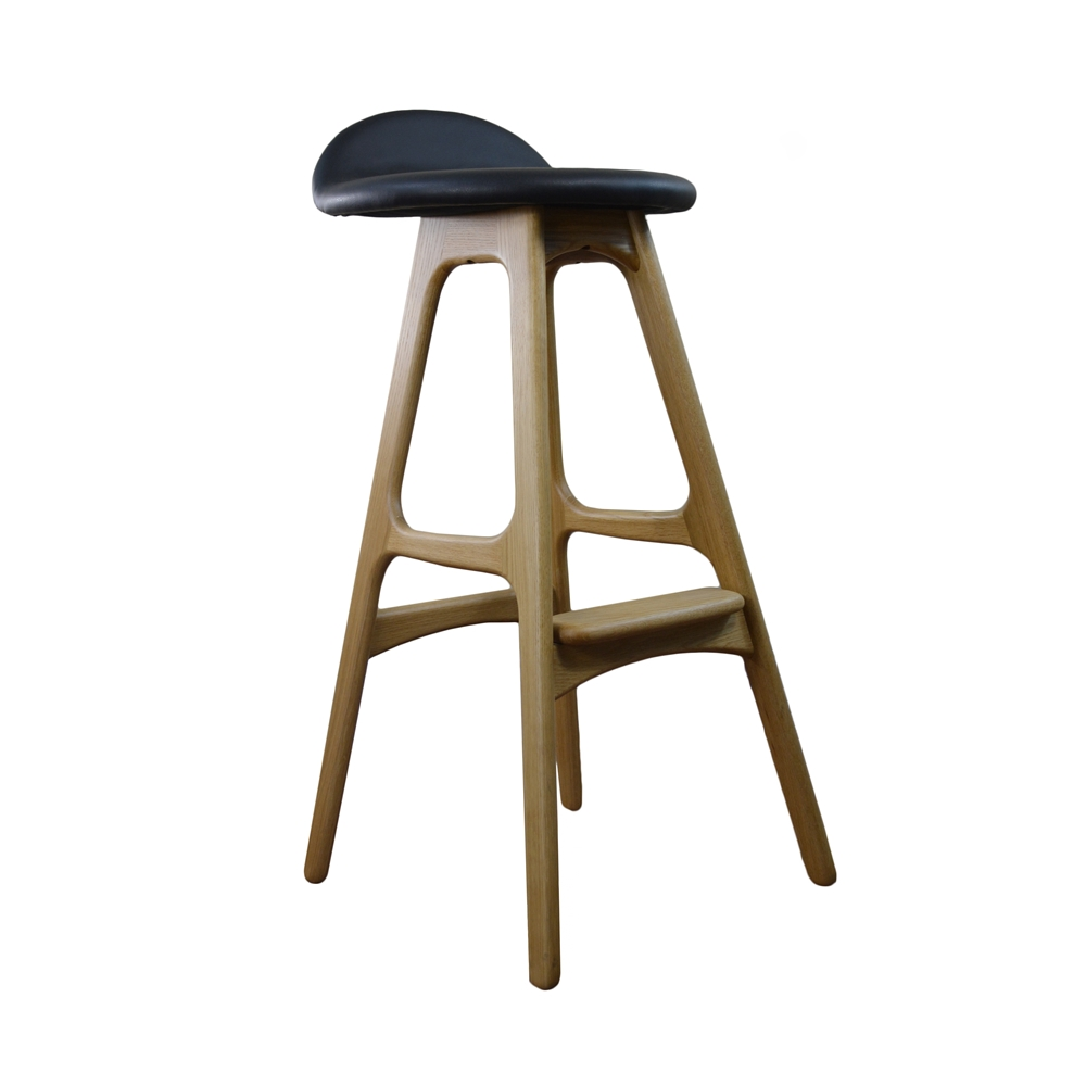 Beautiful White Padded Bar Stool
