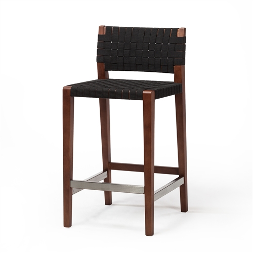 Risom Style Counter Stool in Black