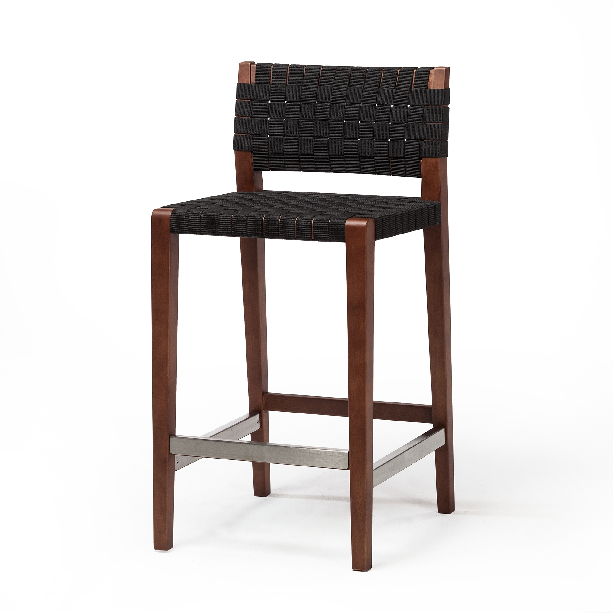Amazing Risom Style Counter Stool In Black The Khazana Home Austin Furniture Store Pabps2019 Chair Design Images Pabps2019Com