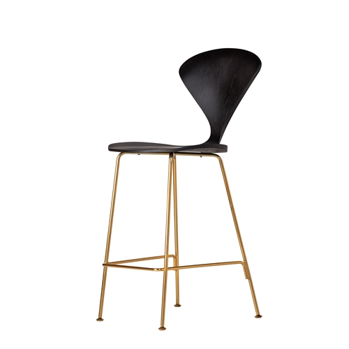 Satine Style Counter Stool in Gold