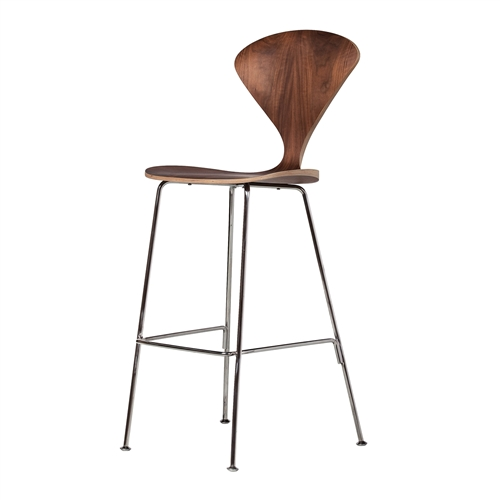 Cherner Style Bar Stool With Metal Legs