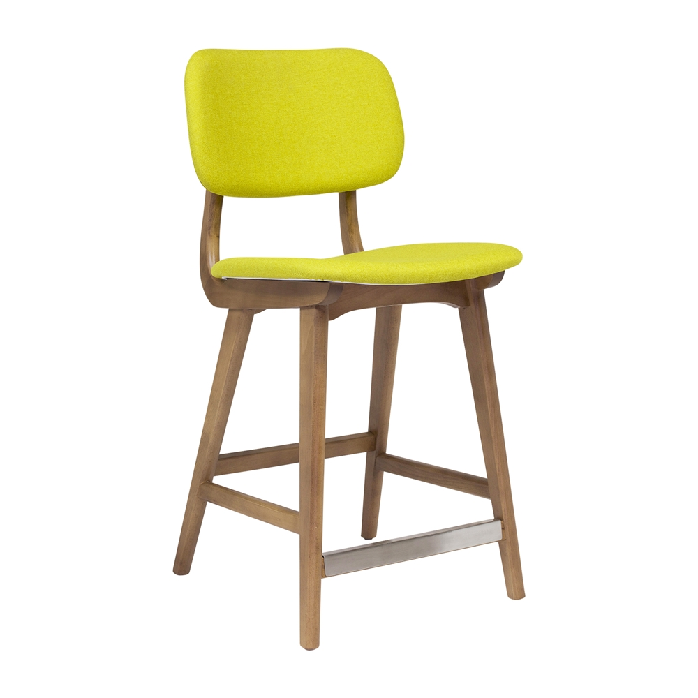 Attirant Ivor Counter Stool In Yellow