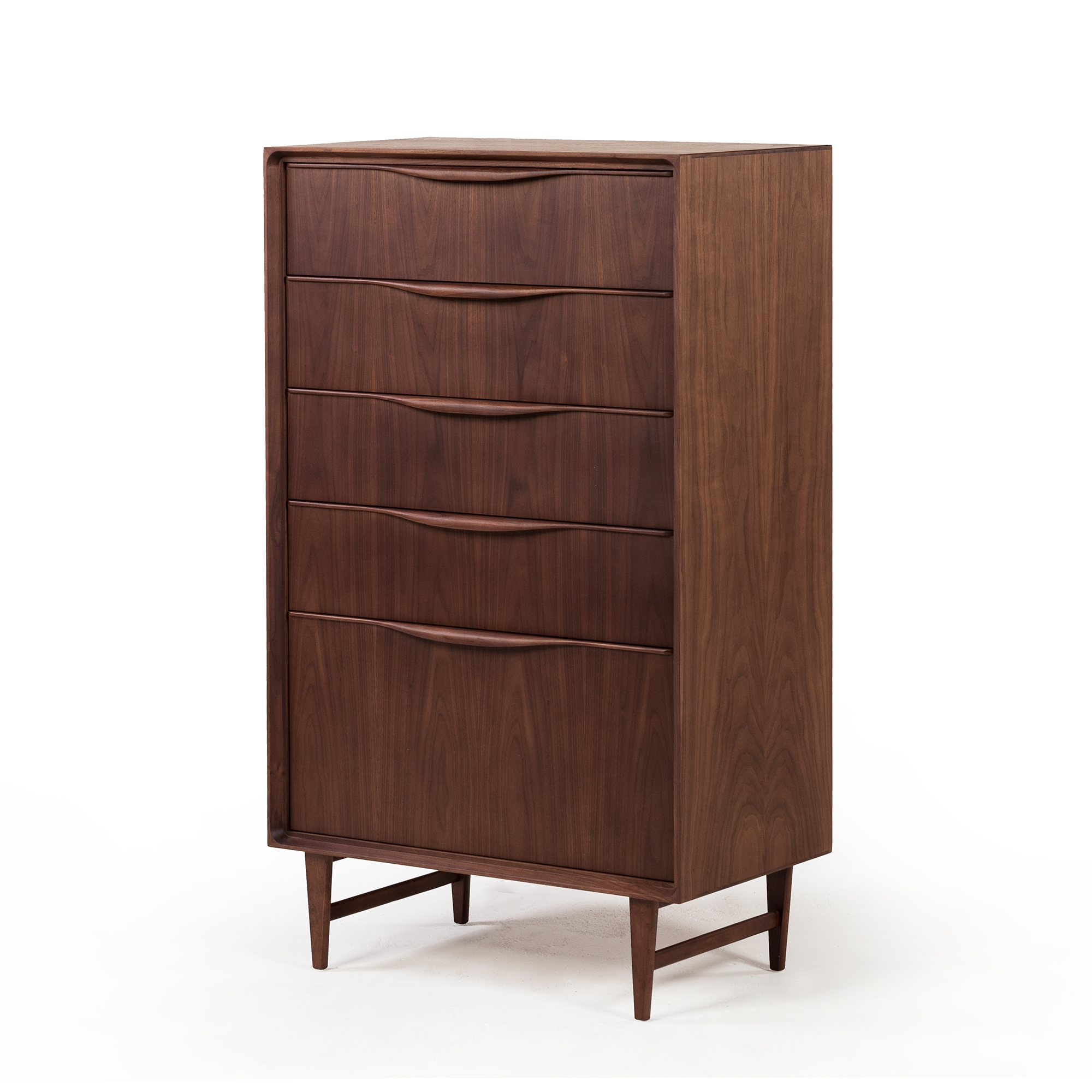 Baxter Mid Century Modern Tall Boy Dresser The Khazana Home Austin Furniture