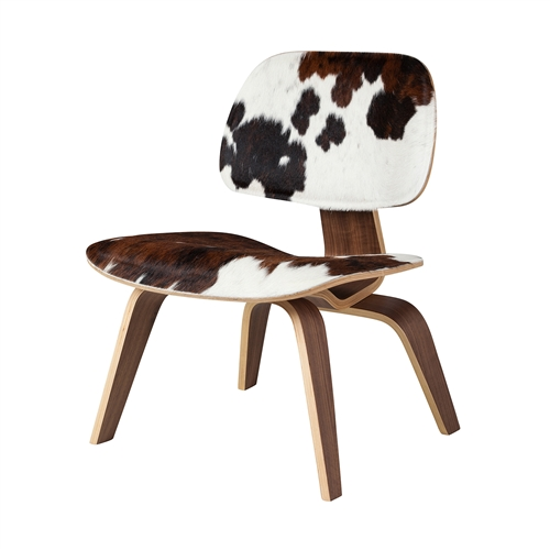Charles Eames Style Molded Plywood Lounge Chair Cowhide