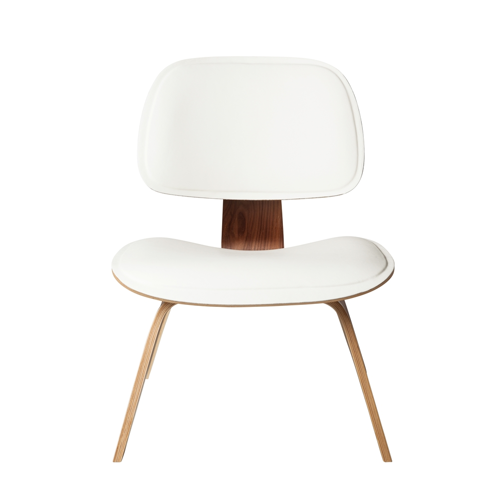 Fine Mid Century Modern Molded Plywood Lounge Chair White Leather Andrewgaddart Wooden Chair Designs For Living Room Andrewgaddartcom