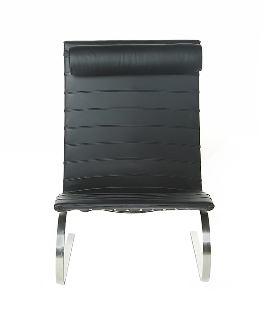 Groovy Easy Chair In Black Leather With Head Rest Inzonedesignstudio Interior Chair Design Inzonedesignstudiocom