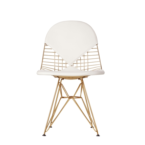 Bikini Style Side Chair in Chamagne Gold
