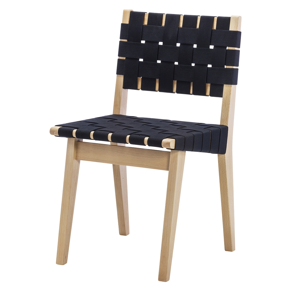 Cool Risom Dining Chair Replica In Black Theyellowbook Wood Chair Design Ideas Theyellowbookinfo