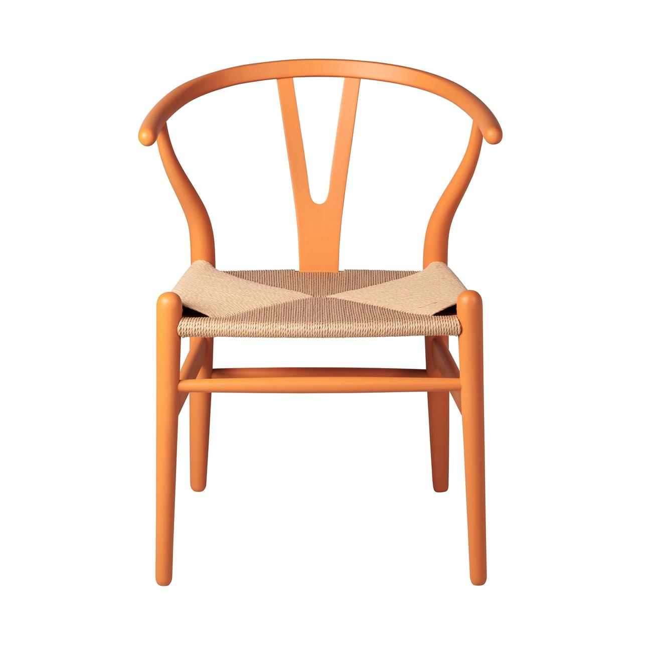 Wishbone Side Chair In Orange