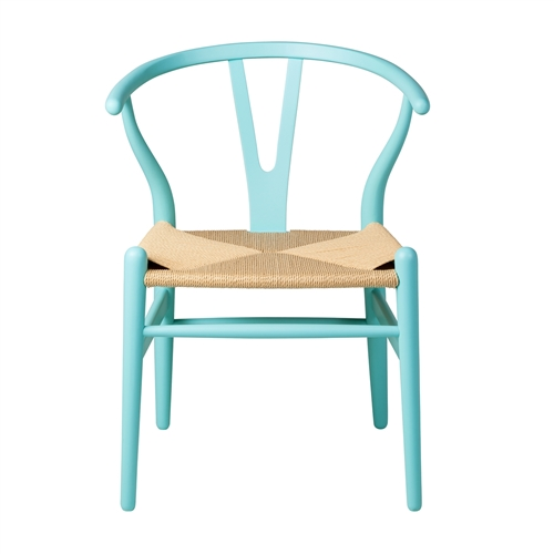 Wishbone Side Chair in Matte Blue