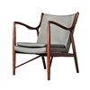 Finn Juhl Inspired 45 Chair Walnut Frame in Light Grey