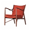Finn Juhl Inspired 45 Chair Walnut Frame in Orange