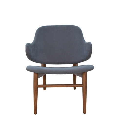 Cherish Wood Inspired Lounge Chair-Dark Grey
