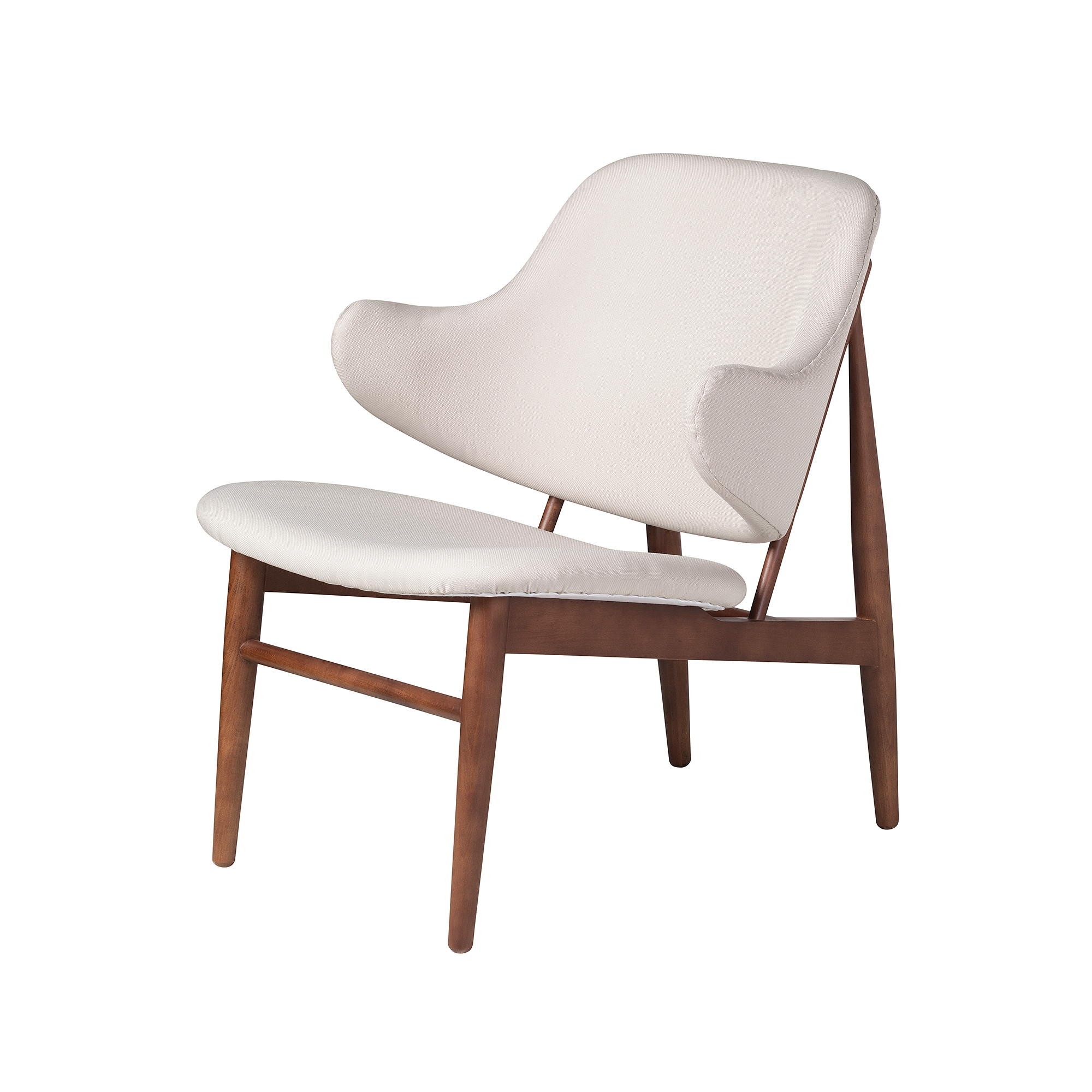 Marvelous Romi Wood Lounge Chair In White European Linen Alphanode Cool Chair Designs And Ideas Alphanodeonline