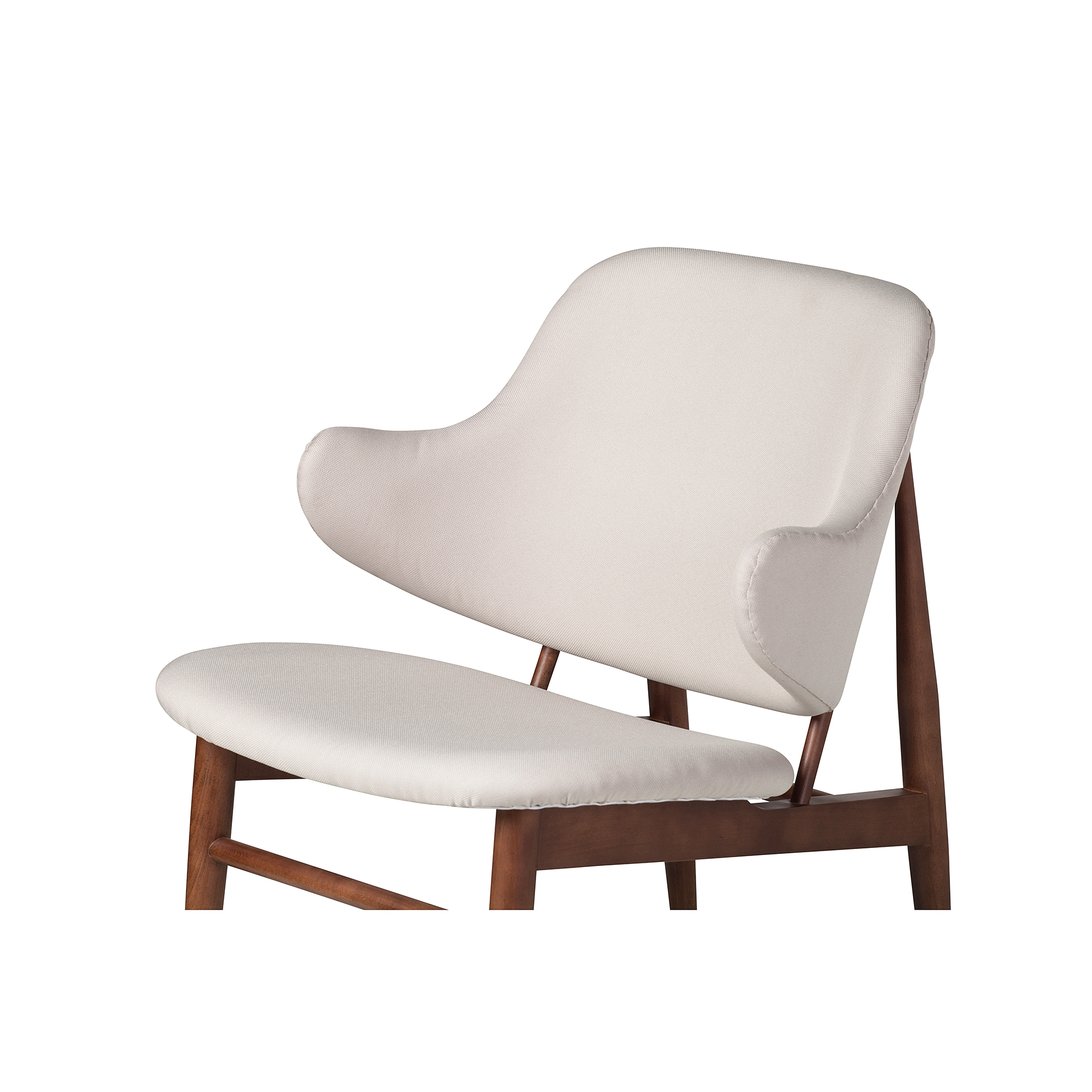 Super Romi Wood Lounge Chair In White European Linen Alphanode Cool Chair Designs And Ideas Alphanodeonline