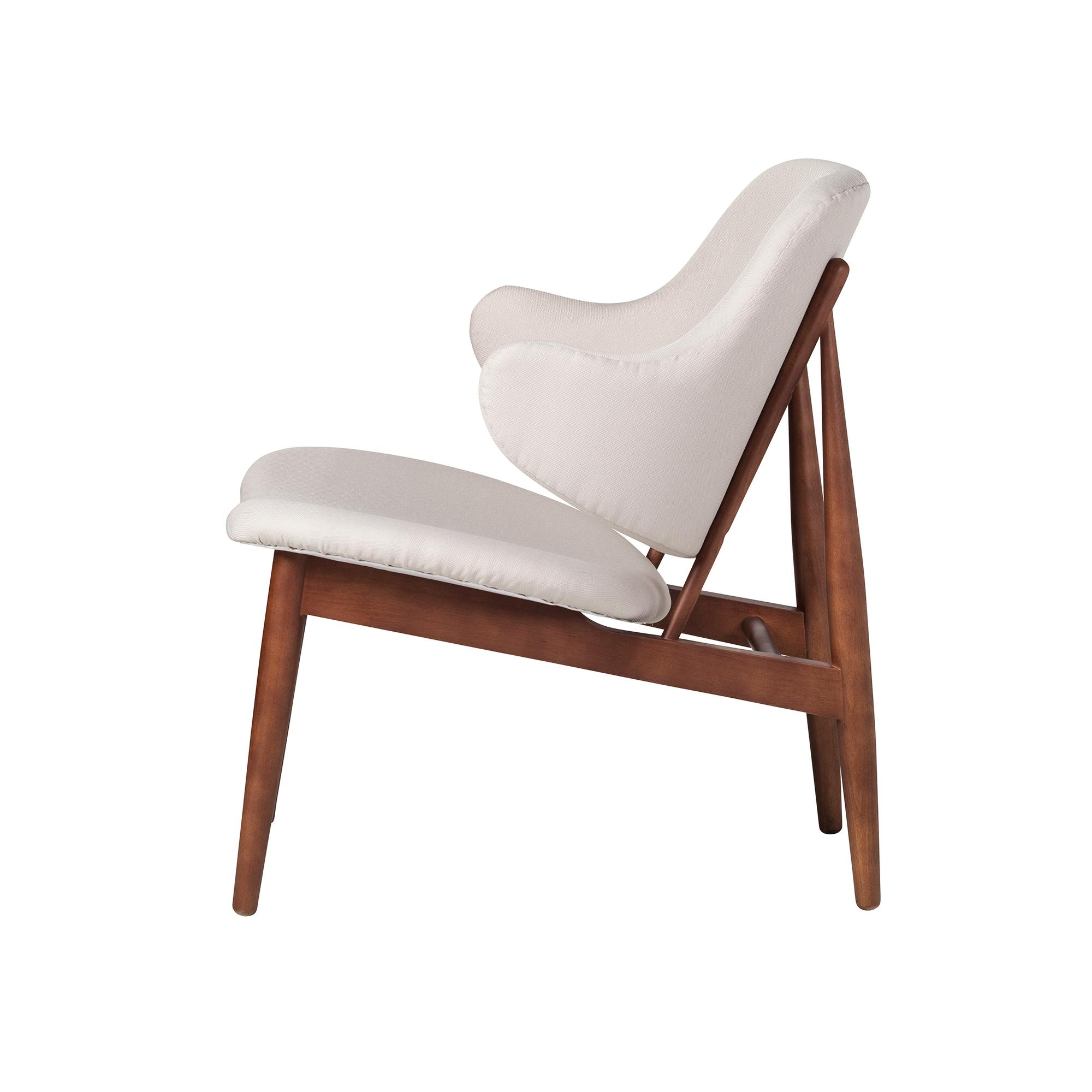 Pleasing Romi Wood Lounge Chair In White European Linen Alphanode Cool Chair Designs And Ideas Alphanodeonline
